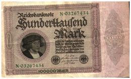 Billet >  Allemagne > 100 000 Mark - [ 3] 1918-1933 : República De Weimar