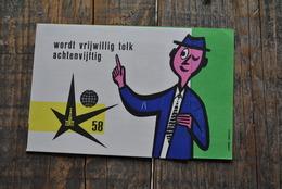 EXPO 58 Exposition Universelle Bruxelles 1958 Wordt Vrijwillig Tolk Achtenvijftig ONTHAAL Flyer Feuillet Pub Atomium - Collections