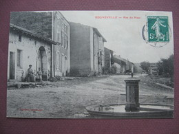 CPA 88 REGNEVELLE Rue Du Haut 1908 RARE & ANIMEE Canton DARNEY Petite Bulle - Autres Communes