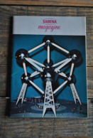 SABENA MAGAZINE EXPO 58 Exposition Universelle ENGLISH Exhibition Heliport United States Portugal Safari Bikoro Congo - Vieux Papiers