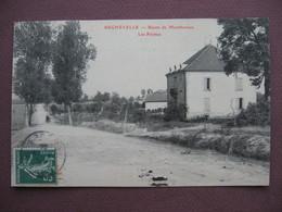 CPA 88 REGNEVELLE Route De Monthureux Les Fermes 1908 RARE  Canton DARNEY - Autres Communes