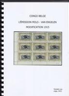 Congo Belge Emission  Mols Van Engelen Modification 1915 . Tavano Leo 75 Pages - Colonies Et Bureaux à L'Étranger