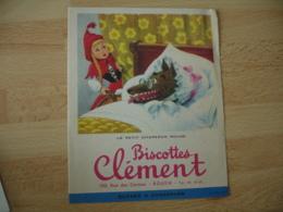 Lot De 2 Biscottes Clement Rouen Le Petit Chaperon Rouge Illustrateur Dagobert - Zwieback