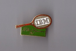 Pin's Informatique / IBM - Tennis Roland Garros 1991 (EGF Doré) - Informatique