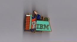 Pin's Informatique / IBM - Tennis Roland Garros 1992 (signé Arthus Bertrand) - Informatique