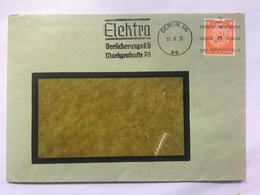 GERMANY 1936 Cover Berlin `Elektra` - Commercial Postmark - Allemagne
