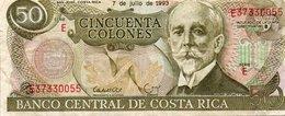 COSTA RICA 50 COLONES 1993 P-257a.5  VF+ - Costa Rica