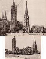 33  BORDEAUX   La Cathédrale Et  La Tour Pey-Berland + Tour Et Eglise Saint Michel - Bordeaux