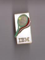 Pin's Informatique / IBM - Tennis (raquette Verte) EGF Doré - Informatique
