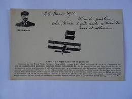 CPA Le Biplan Métrot En Plein Vol Construit Par Les Frères Voisin 1910 Avec Anecdote TBE - ....-1914: Precursors