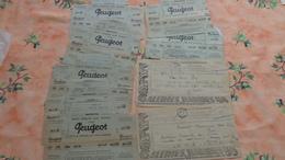 Lot De 160 Telegrammes Dont 11 Publicitaire Peugeot Ou Galeries Barbès Avec Diverses Oblitérations - Télégraphes Et Téléphones