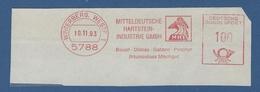 BRD AFS - WINTERBERG WESTF, MHI Mitteldeutsche Hartstein-Industrie GmbH - Basalt Diabas Gabbro Porphyr.... 1993 - Marcofilia - EMA ( Maquina De Huellas A Franquear)