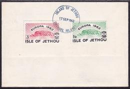 Isle Of Jethou, Europa 1962, Cinderellas On Cover - 1962