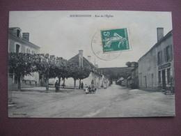 CPA 10 BOURGUIGNONS Rue De L'Eglise ANIMEE Enfants Dans Brouette Et CAFE RESTAURANT 1911 Canton BAR SUR SEINE - Autres Communes