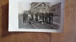 Lessines Carte Photo    La Gare   ( + Personnel INFRABEL   Haha ) - Lessines