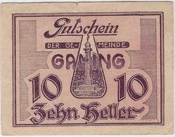 Österreich Austria Notgeld 20 HELLER FS220 GAMING /197M/ - Autriche