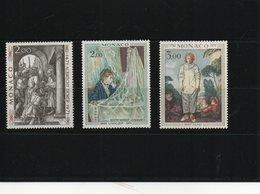 MONACO 1972 PEINTURES DÜRER, MORISOT, WATTEAU  Yvert 876-878 NEUF** MNH Cote : 8 Euros - Ungebraucht