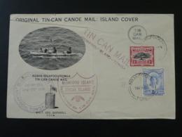 Lettre Cover Tin-Can Canoe Mail Niuafoou Island Tonga 1946 - Tonga (...-1970)