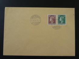 Lettre Cachet 1er Jour FDC 60c + 80c Reine Charlotte Luxembourg 1949 (ex 1) - FDC