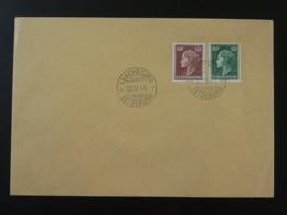 Lettre Cachet 1er Jour FDC 60c + 80c Reine Charlotte Luxembourg 1949 (ex 4) - Luxemburgo
