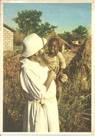 """Missionario Con Un Bambino Africano In Braccio, Ediz. """"Missioni Estere Cappuccini"""" Milano - Altri"""