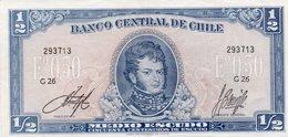 CHILE 1/2 ESCUDO 1962 P-134  AUNC - Chile