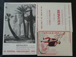 Livret Exposition Reinatex Monaco 1952 - Monaco