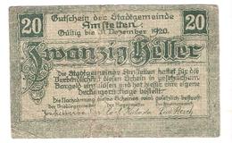 Österreich Austria Notgeld 20 HELLER FS37 AMSTETTEN /196M/ - Autriche