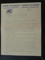 Lettre Annonce Inauguration Du Palais Des Droits De L'Homme Conseil De L'Europe 1965 - Dienstpost