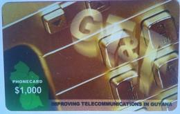 $1,000 Thin No Exp Date - Guyana