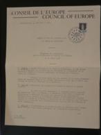Programme Des Cérémonies Pour La Remise Du Prix De L'Europe à La Ville De Strasbourg 1967 - Europäischer Gedanke