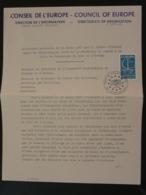 Allocution De Pierre Pflimlin Maire De Strasbourg 1967 Au Conseil De L'Europe 1967 - Europäischer Gedanke