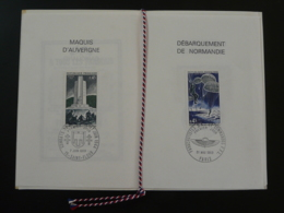 Encart FDC Folder 25 Ans De La Libération Débarquement Garigliano Normandie-Niemen 1969 - WW2