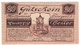 Österreich Austria Notgeld 20 HELLER FS888 ST. GEORGEN /195M/ - Autriche