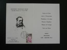 Menu Hommage à Louis Pasteur Dole 39 Jura 1974 - Louis Pasteur