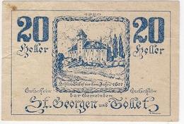 Österreich Austria Notgeld 20 HELLER FS890 ST. GEORGEN /194M/ - Autriche