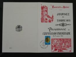 Encart Exposition Philatélique Journée Du Timbre Luxeuil 70 Haute Saone 1975 - Journée Du Timbre