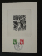 Feuillet Avec Gravure Sabine De Gandon Musée PTT Riquewihr 68 Haut Rhin 1978 - 1977-81 Sabine De Gandon