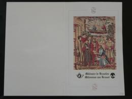 Encart FDC Folder Bloc Millénaire De Bruxelles Medieval History Belgique 1979 - Lettres & Documents