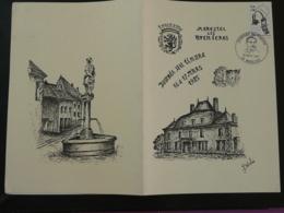 Encart FDC Folder Journée Du Timbre 1985 Morestel 38 Isère - Stamp's Day