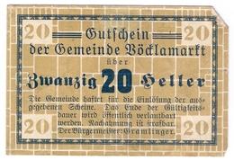 Österreich Austria Notgeld 20 HELLER FS1117 VOCKLAMARKT /193M/ - Austria