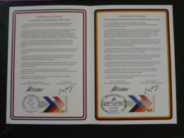 Encart Commemoratif Folder Traité Franco-allemand De Gaulle Adenauer Oblit. BPM 510 Europa 1987 - Gemeinschaftsausgaben
