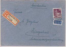 Bizone - Rot A. See Einschreibebrief N. Künzelsau 1948 - Deutschland