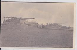 Limé ? (Aisne) - Carte-photo Grande Guerre Avril 1917 Matériel Militaire Canon Pièce Artillerie Lourde - Altri Comuni