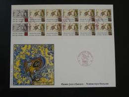 FDC Vers à Soie Silk Worm Carnet Croix Rouge Red Cross Edition Numismatique 1989 - Insectes