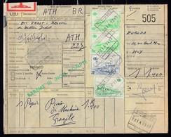 Vrachtbrief Met Stempel Huy-Nord N°10 - 1953-1972 Lunettes