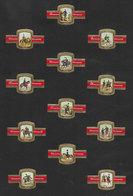 Bagues De Cigares Ritmeester - 36 Bagues - Cavalerie + Musique à Cheval - Bagues De Cigares