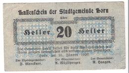 Österreich Austria Notgeld 20 HELLER FS397 HORN /192M/ - Autriche
