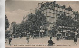 PARIS 10 - BOULEVARDS SAINT DENIS ET DE STRASBOURG - RESTAURANT MAIRE - Arrondissement: 10