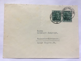 GERMANY 1936 Cover Trebnitz To Hannover Tied With `Otto Daimler` X 2 - Germania